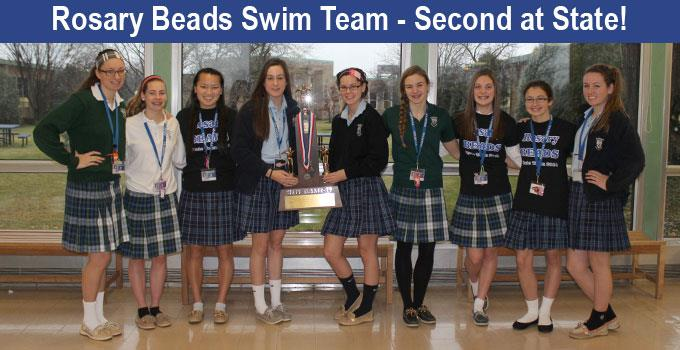 Beads Swim Team Places Second at State