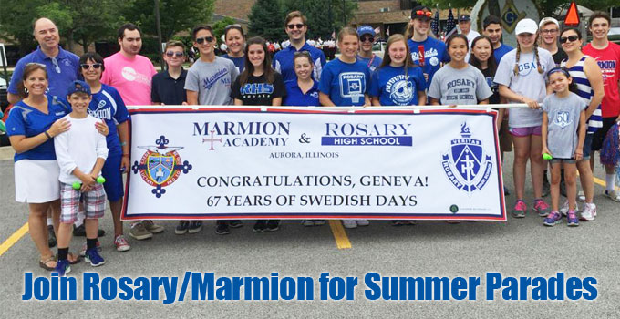 Rosary/Marmion Join in Summer Parades