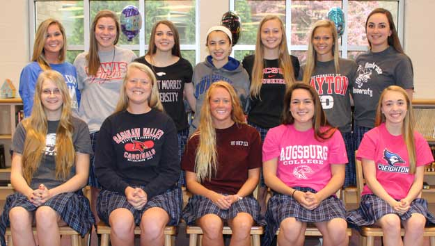 12 Rosary Athletes Sign National Letters of Intent