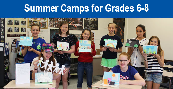 Summer Camps for Grades 6-8